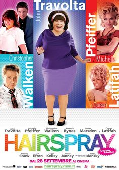 Hairspray (2007) starring John Travolta, Michelle Pfeiffer, Christopher Walken, Amanda Bynes, James Marsden, Queen Latifah & introducing Nikki Blonsky