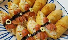간단도시락:)맛있는 유부초밥만들기 : 네이버 블로그 Bakery Menu, Cute Food, Korean Food, Bento, Fruit Salad, Asian Recipes, Kids Meals, Sushi, Shrimp