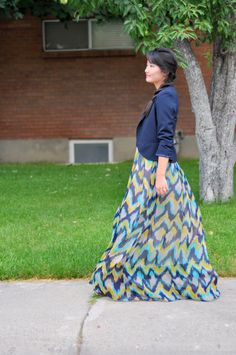 C: The one hour 2-in-1 Maxi dress and skirt tutorial