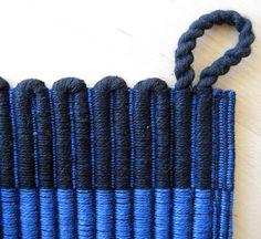 Potholder detail by Danish weaver Freya Willemoes-Wissing. via Flickr
