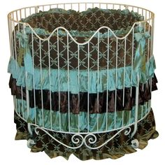 addison scroll round iron crib in choice of finish all baby cribs at poshtots