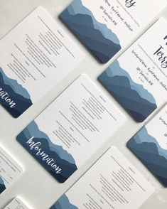 If your wedding is going to be surrounded by hills and mountains, then this collection will fit in very nicely. Featuring lovely modern calligraphy and a simple, but elegant painted mountain shilouette taken from the incredible Langdale skyline in The Lake District, this will set a beautiful theme for your day. Wedding Invitation Design, Wedding Stationery, Place Names, Digital Marketing Services, Stationery Design, Lake District, Modern Calligraphy, Booklet, Save The Date