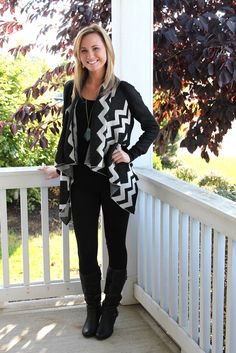 "Zigzag Cardigan from Avery Lane Boutique (20% off with code ""livinginyellow"")"
