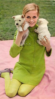 *LOVE* this green! Cute pups, too :)  Twiggy 2 by sugarpie honeybunch, via Flickr