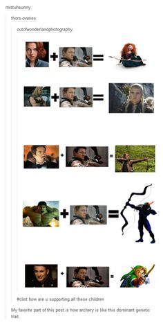 Various archery characters are just the genetic mix up of Clint Barton and some other avenger
