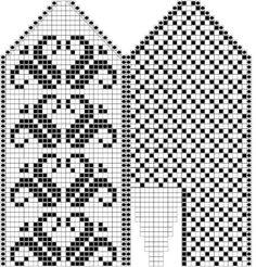 Варежки по хорошо известной схеме в исполнении dr_livsy.. Обсуждение на LiveInternet - Российский Сервис Онлайн-Дневников Knitting Charts, Knitting Socks, Knitting Stitches, Hand Knitting, Knitting Patterns, Knitted Mittens Pattern, Crochet Mittens, Loom Beading, Beading Patterns