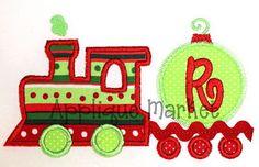 Machine Embroidery Design Applique Ric Rac Train by tmmdesigns, $4.00