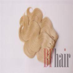BF Hair 3 Bundles Brazilian Virgin Hair Color 613 Blonde Body Wave Bleached Hair…
