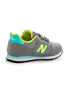 NEW BALANCE Chaussure Junior Velcro - KV373 Autumn Leaves pre-z5 -  Yellow aqua 08f1a403050