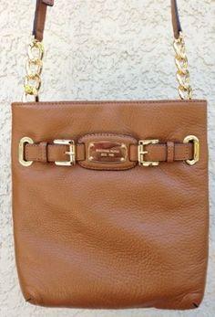 Amazon.com: Michael Kors Hamilton Large Crossbody Luggage Leather: Clothing