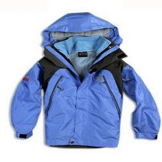 North Face Kids flexible 3 in 1 Jackets Blue / Black