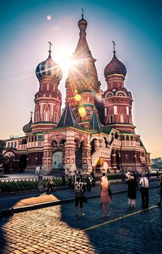 Saint Basil's Cathedral in Moscow, Russia