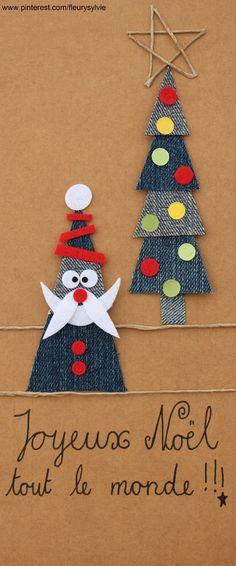 Joyeux Noel tout le monde ! Recyclage des pantalons #jeans #recycle https://pinterest.com/fleurysylvie/mes-creas-la-collec/ et www.toutpetitrien.ch