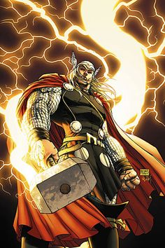 "Thor (Thor Odinson aliases; Siegmund, Siegfried, Dr. Donald Blake, Jake Olson, Sigurd Jarlson, Eric Masterson) (Asgardian god) (Asgard) Warrior, adventurer. Superhuman strength (one of the most powerful beings in the universe) speed, agility, endurance, longevity. Abilities via Mjolnir (Hammer) Flight. Energy absorption & projection. Weather manipulation.  Dimensional transportation. Electric manipulation. 6' 6"" tall."