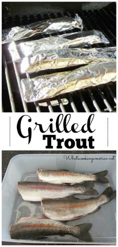 Grilled Trout Recipe - Tips on how to clean fish    whatscookingamerica.net     #grilled #trout #fish