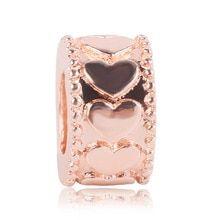 2019 New Rose Gold Blush Pink Magnolien Bloom Bead Fit Original Pandora Charms und andere Favoriten - - Pandora Charms Disney, Pandora Rings, Diy Jewelry To Sell, Diy Jewelry Making, Rose Gold Charms, Wire Wrapped Jewelry, Blush Pink, Bloom, Charmed