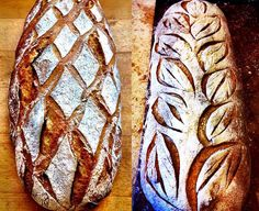 Creative Scoring - Second International Holma Workshop in Naturally Leavened Handcrafted Bread in Beautiful Scania, Sweden Quick Bread, How To Make Bread, Bakery Recipes, Bread Recipes, Ciabatta, Bread Art, Bread Shaping, Rustic Bread, Baking Items
