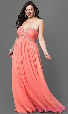 75acfc46661 Full-Figure Dresses and Plus-Size Prom Gowns -PromGirl - PromGirl