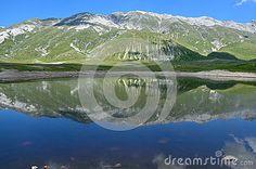 Blue lake in Abruzzo near the Gran Sasso.