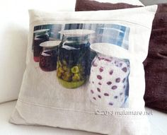 Linen photo pillow c