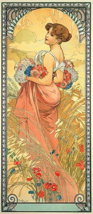 The Seasons: Summer, by Alphonse Mucha (1900). Mucha Foundation Prints