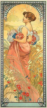 The Seasons: Summer, by Alphonse Mucha (1900). Mucha Foundation Prints