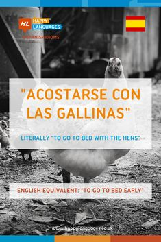 Can you guess the meaning of this lovely Spanish idiom? Have a look!  #learspanish #spanishidiom Spanish Idioms, Idiomatic Expressions, Go To Bed Early, Learn Spanish, Meant To Be, Language, English, Learning, Learning Spanish