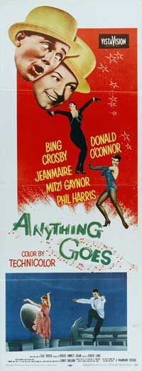 """ANYTHING GOES"" (1956) Bing Crosby, Donald O' Connor, Mitzy Gaynor"