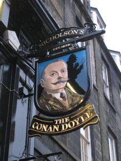 The Conan Doyle pub in Edinburgh. I think I passed it one night....must locate it again
