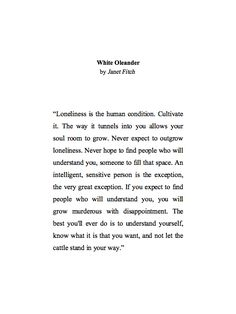 Janet Fitch from White Oleander//