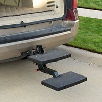 Taking your big dog along for the ride has never been easier with Solvit PupSTEP Car Hitch Pet Step. It's the perfect solution for pet parents who want an alternative to large ramps for helping their pups access the back of the vehicle. The innovative two-step design makes it easy for pets to climb up and down, and even easier for you to swivel it up and out of the way when not in use. The generously-sized steps have a high-traction surface to give pets confidence while going up and down…