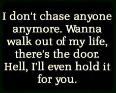 da chase is over..
