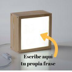 ¿Te gustaría tener enmarcada tu propia frase en una caja de luz?   Si es así, aquí tienes la caja de luz de tus sueños ♥