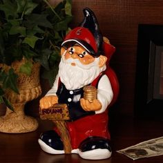 Cleveland Indians Garden Gnome Coin Bank by Forever Collectibles.  20.40.  One of a kind. Officially licensed. 10 inches high. Resin. 066cd8aa9