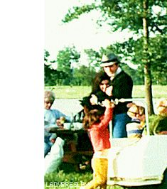Elvis and Priscilla (pregnant with Lisa) with friends and family at Circle G Ranch 1967