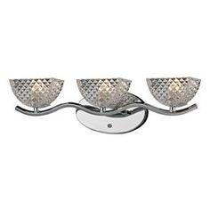 Westmore Lighting Scholar's Mate 3-Light Polished Chrome Bowl Vanity L