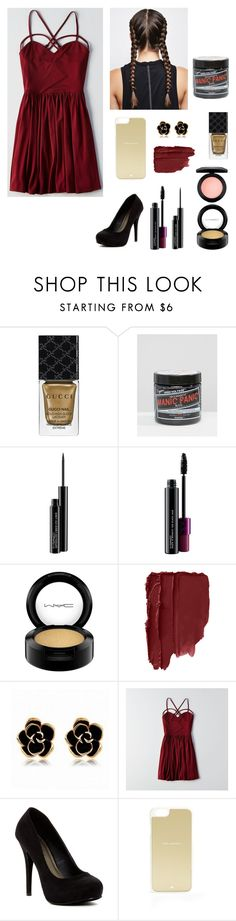 """""""trásh"""" by brieisniall ❤ liked on Polyvore featuring Gucci, Manic Panic NYC, MAC Cosmetics, American Eagle Outfitters, Michael Antonio and Kate Spade"""