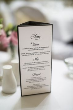 3 Panel Menu Stand. Photography by Morris Images.
