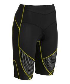 Loving this Black & Yellow Stabilyx Shorts - Women on #zulily! #zulilyfinds