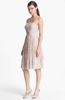 Eliza J Lace Applique Fit & Flare Dress