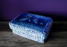 Papierowa wiklina Moniki koszyczek z delfinami Decorative Boxes, Home Decor, Decoration Home, Room Decor, Home Interior Design, Decorative Storage Boxes, Home Decoration, Interior Design
