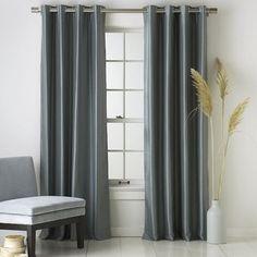 cortinas modernas color gris