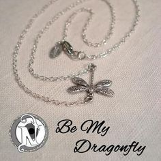 """Chain: 18.0"""" Sterling Silver Plated Link ChainDragonfly: Sterling Silver PlateTag: NTIO/Juliet's Signature (sterling silver)Size: Fits AllClose-up Photo: Not Actual SizeThe link chain is sterling silver plate. Remove before swimming, showering or sleeping for longer wear.  The sterling silver tag is hand stamped with the NTIO Logo on one side and jewelry that supports an Artist, Band, Cause, Designer, Event or Group can show their logo on the other side.  The tag for this bracelet has the…"""