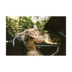 blonde, car, drive, hair, trees ❤ liked on Polyvore featuring pictures, photos, backgrounds, people and girls