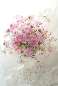 Soft pink and white arrangement