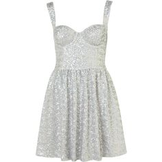 Disco Sequin Prom Dress ($160) ❤ liked on Polyvore featuring dresses, vestidos, topshop, women, white strap dress, strappy dress, sequin cocktail dresses, sequin prom dresses and sequin dress