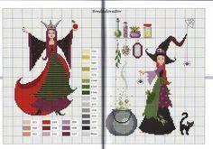 Evil Queen from Snow White: Contes de Fees Pagan Cross Stitch, Cross Stitch Fairy, Mini Cross Stitch, Beaded Cross Stitch, Simple Cross Stitch, Cross Stitch Charts, Counted Cross Stitch Patterns, Cross Stitch Designs, Cross Stitch Embroidery