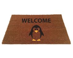 Hey, I found this really awesome Etsy listing at https://www.etsy.com/listing/192560914/penguin-welcome-doormat