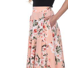 OpenSky Midi Flare Skirt, Skater Skirt, Flared Skirt, Midi Skirt With Pockets, Waist Cincher Corset, Black Milk Clothing, Stockings Lingerie, Black Corset, Skirt Fashion