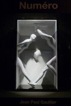 Le Bon Marché x Jean Paul Gaultier Window Display Design, Store Window Displays, Visual Merchandising Displays, Visual Display, Vitrine Jean, Vitrine Design, Retail Windows, Shop Windows, Retail Design